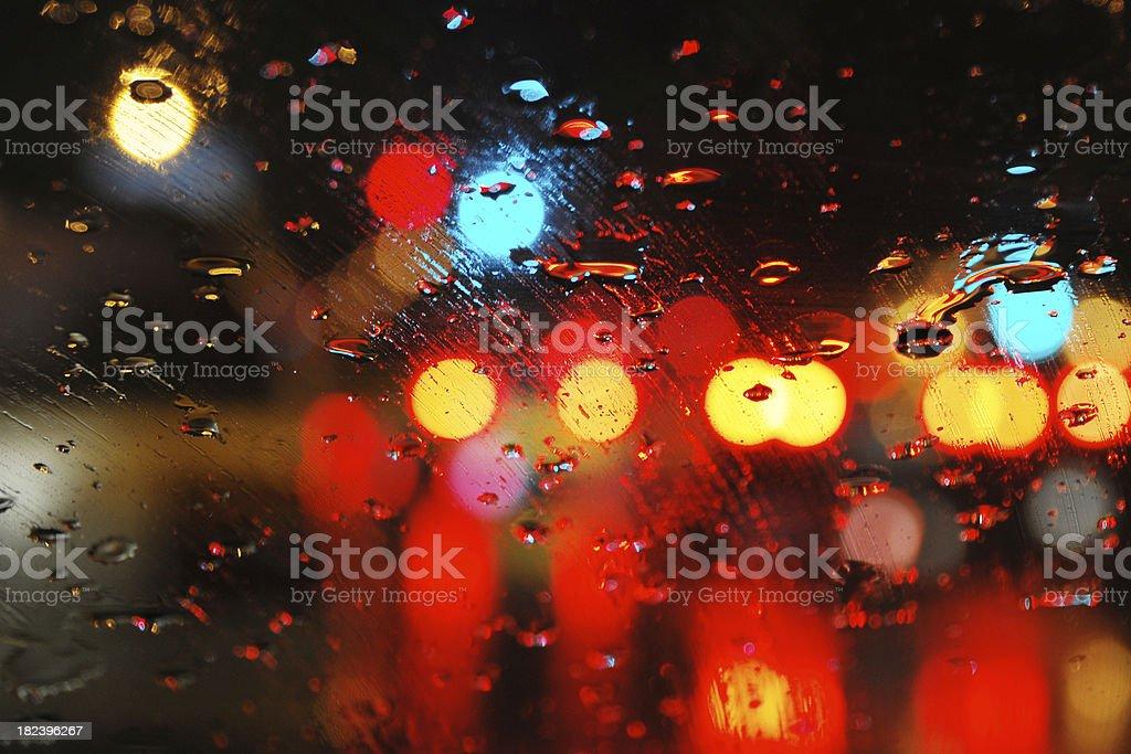 Rain on Window - Large stock photo