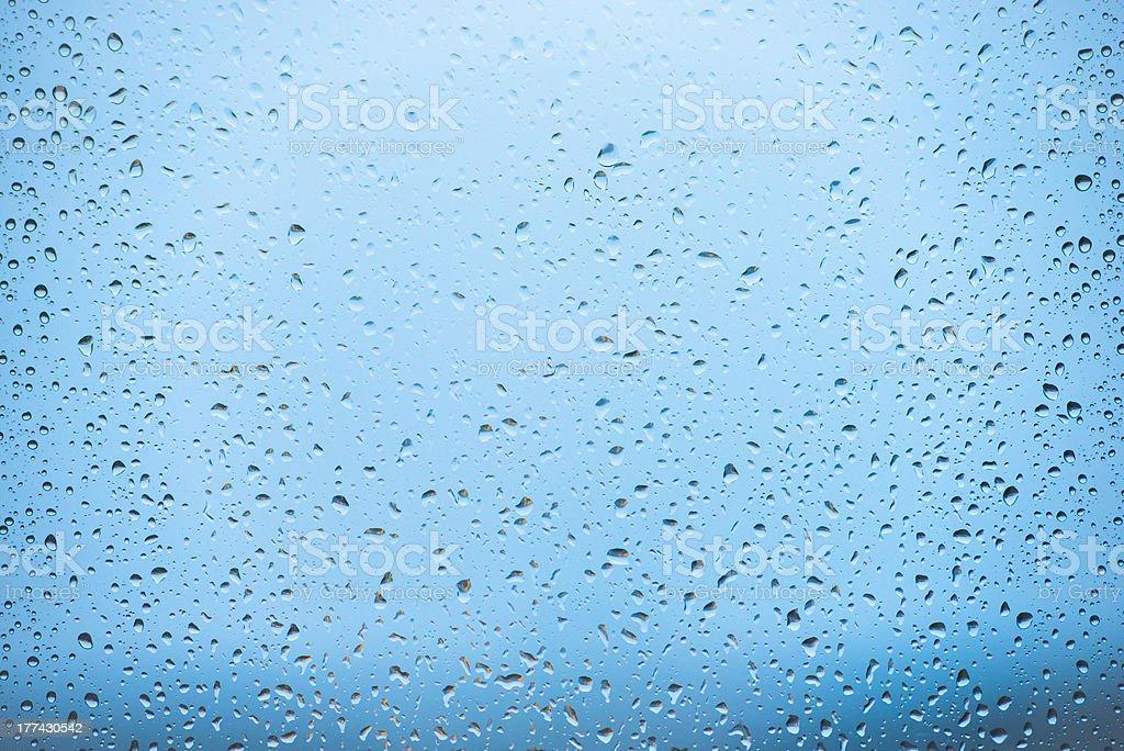 Rain on window royalty-free stock photo