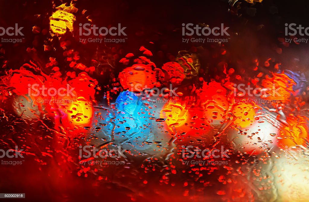 Rain road abstract background stock photo
