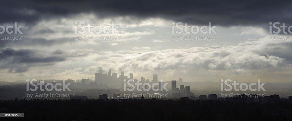 rain storm los angeles stock photo