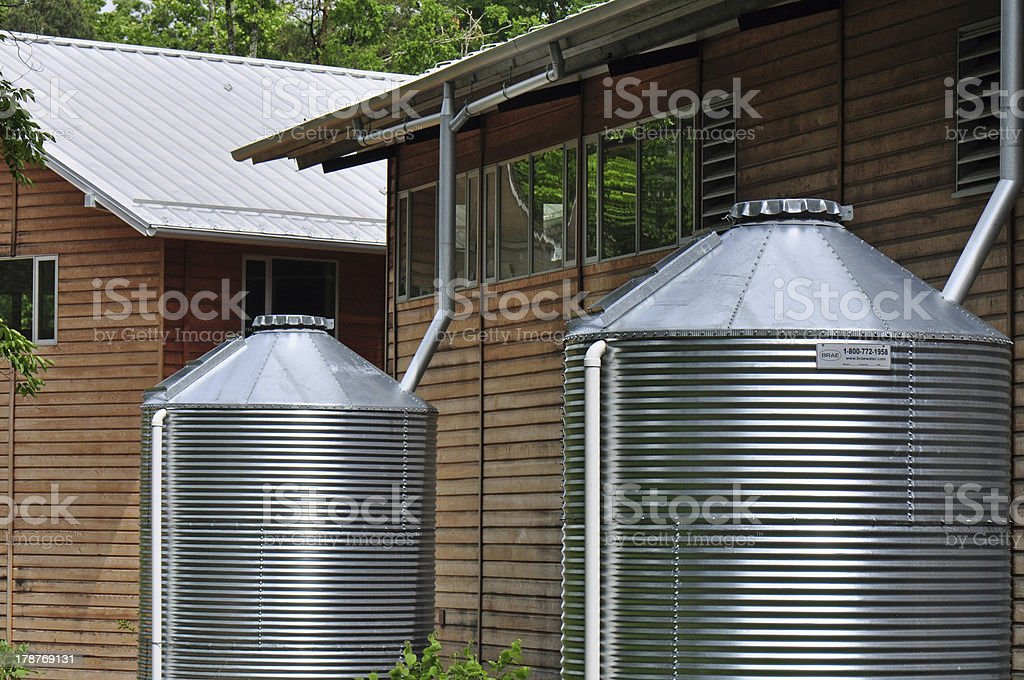 Rain Water Cisterns stock photo