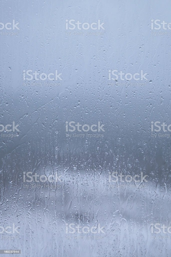 Rain / Weather Ruined Holiday?! Raindrops on window, again! royalty-free stock photo