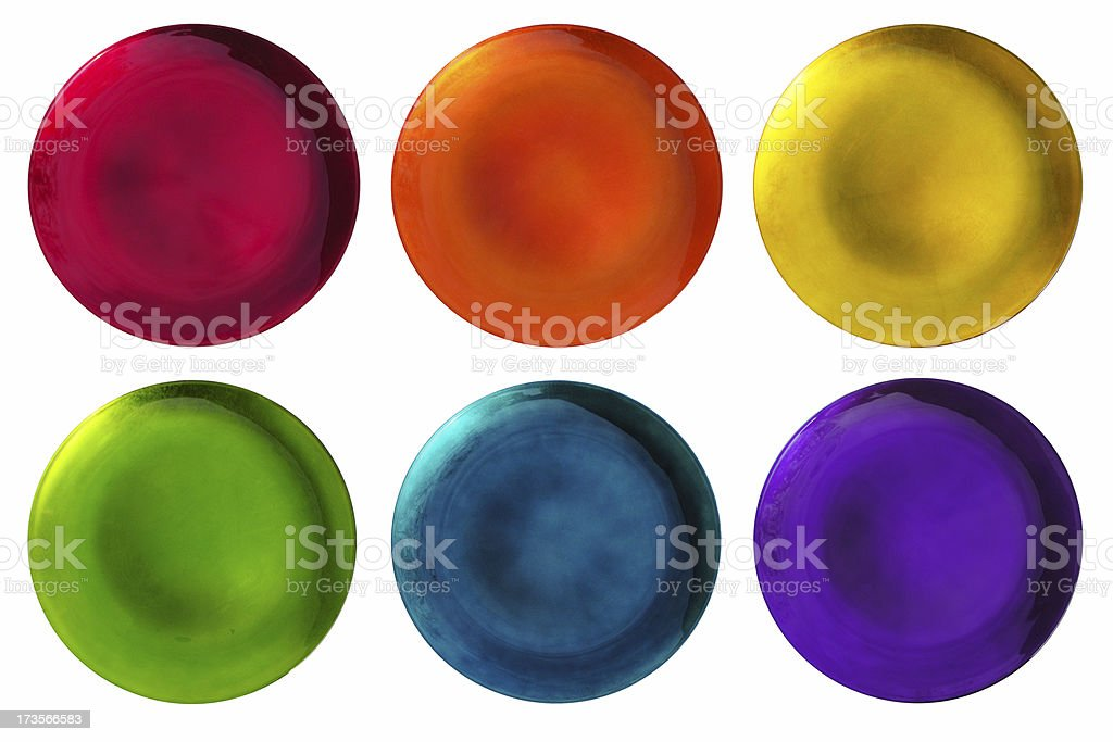 Rainblow Glass Plates royalty-free stock photo