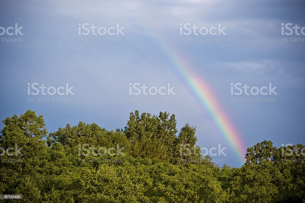 Rainbow after the storm stock photo