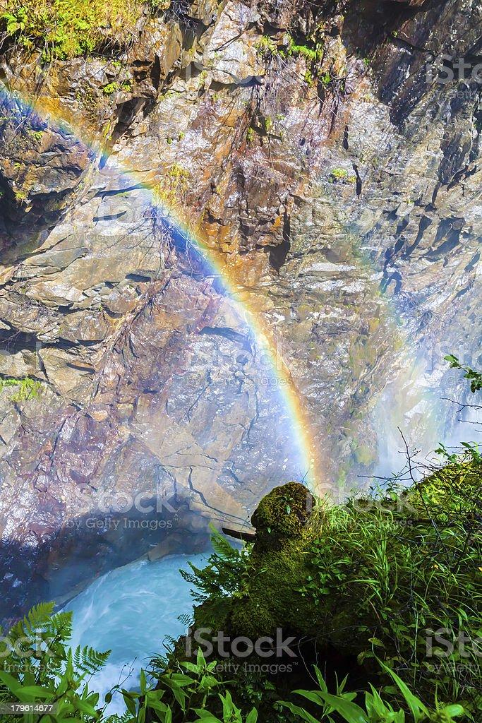Rainbow at Reinbachfaelle royalty-free stock photo