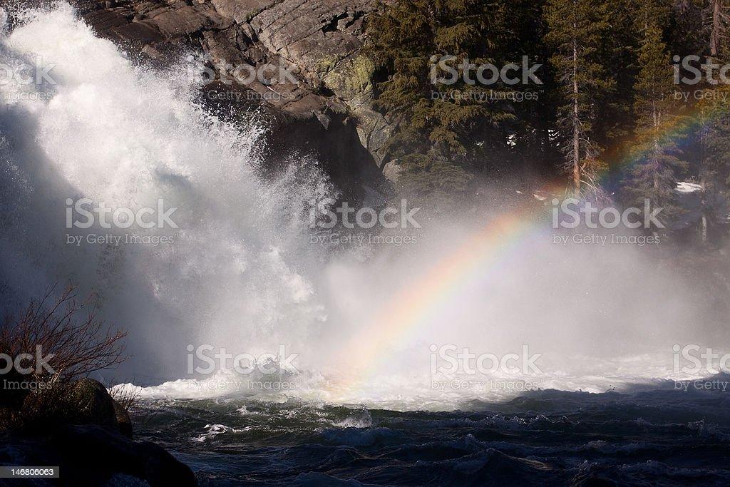 Rainbow at White Cascade royalty-free stock photo