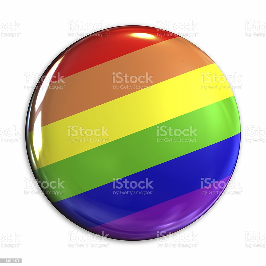 Rainbow badge stock photo