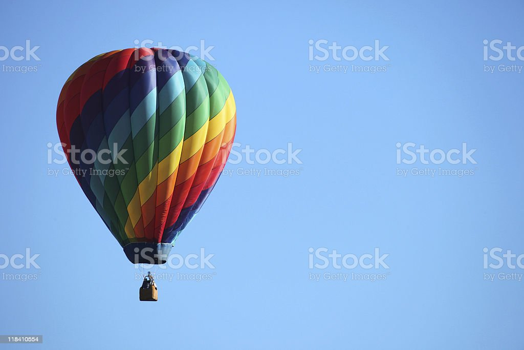 rainbow balloon royalty-free stock photo