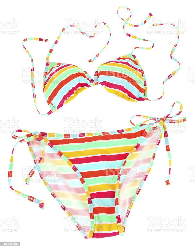 Rainbow Bikini royalty-free stock photo
