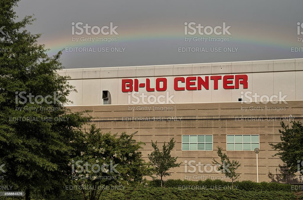 Rainbow Bi-Lo Center royalty-free stock photo