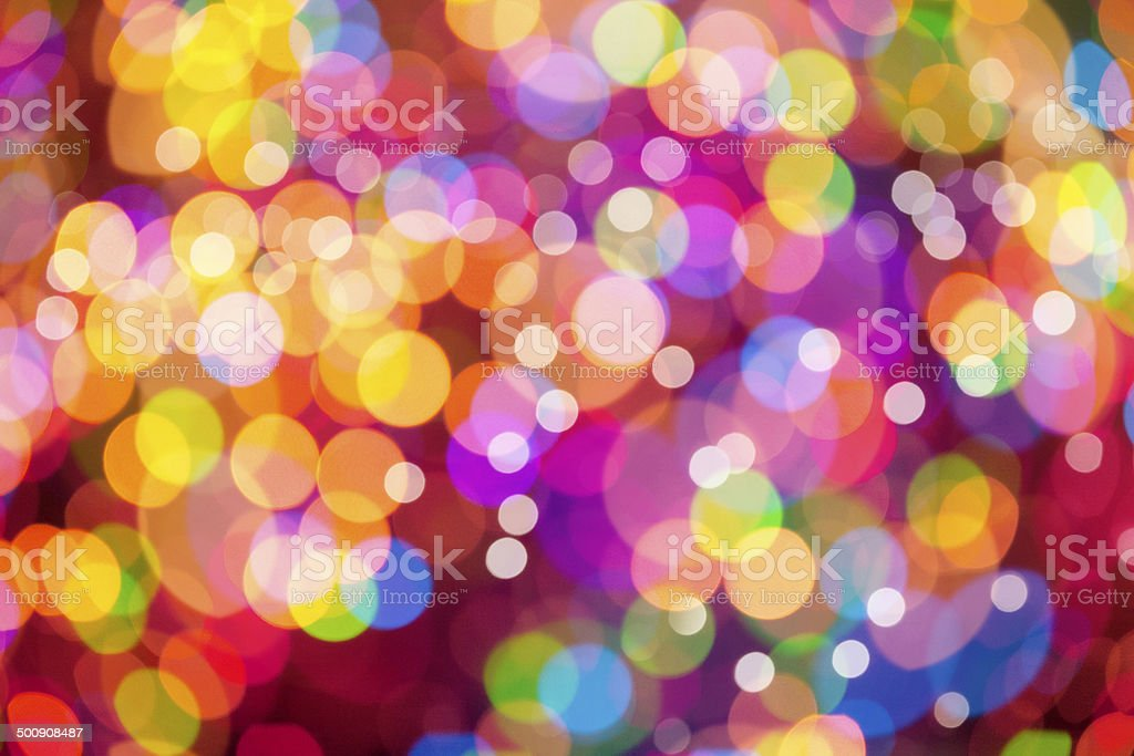 Rainbow Bokeh Background stock photo