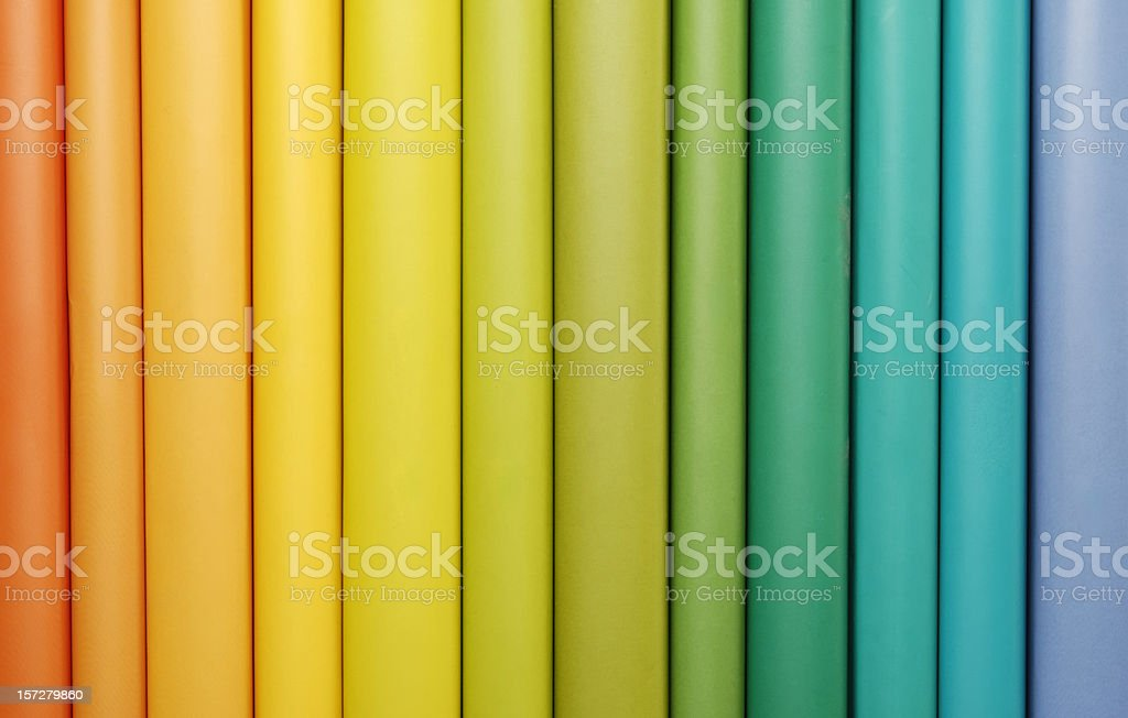 Rainbow Book Spines royalty-free stock photo