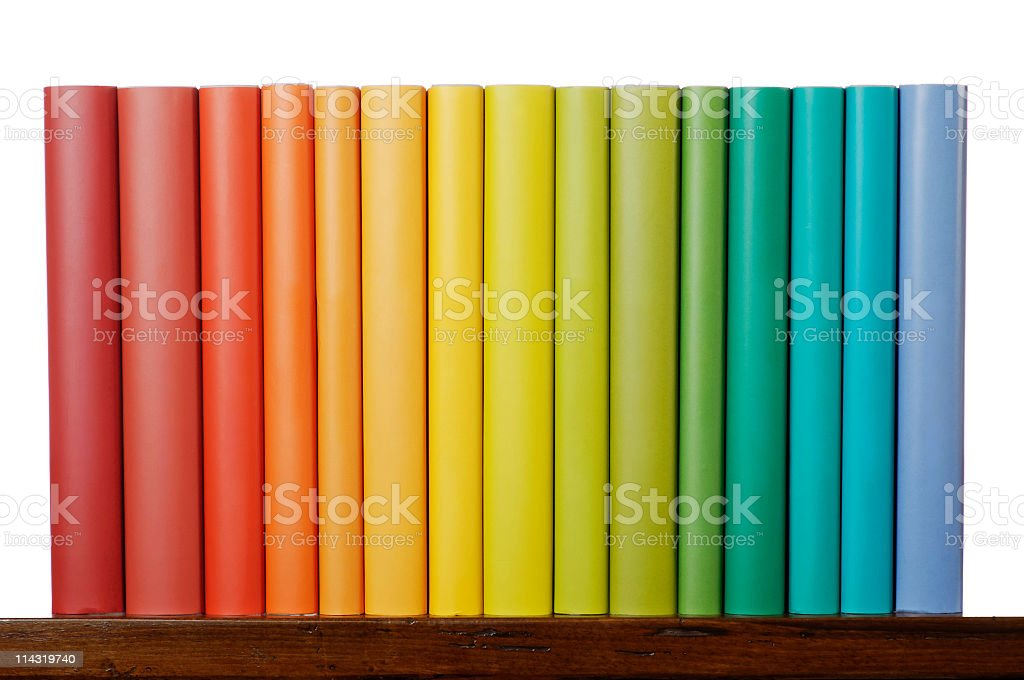 Rainbow Books stock photo