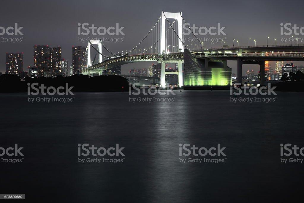 Rainbow Bridge crossing the northern bay. Tokyo-Japan. 8007 stock photo
