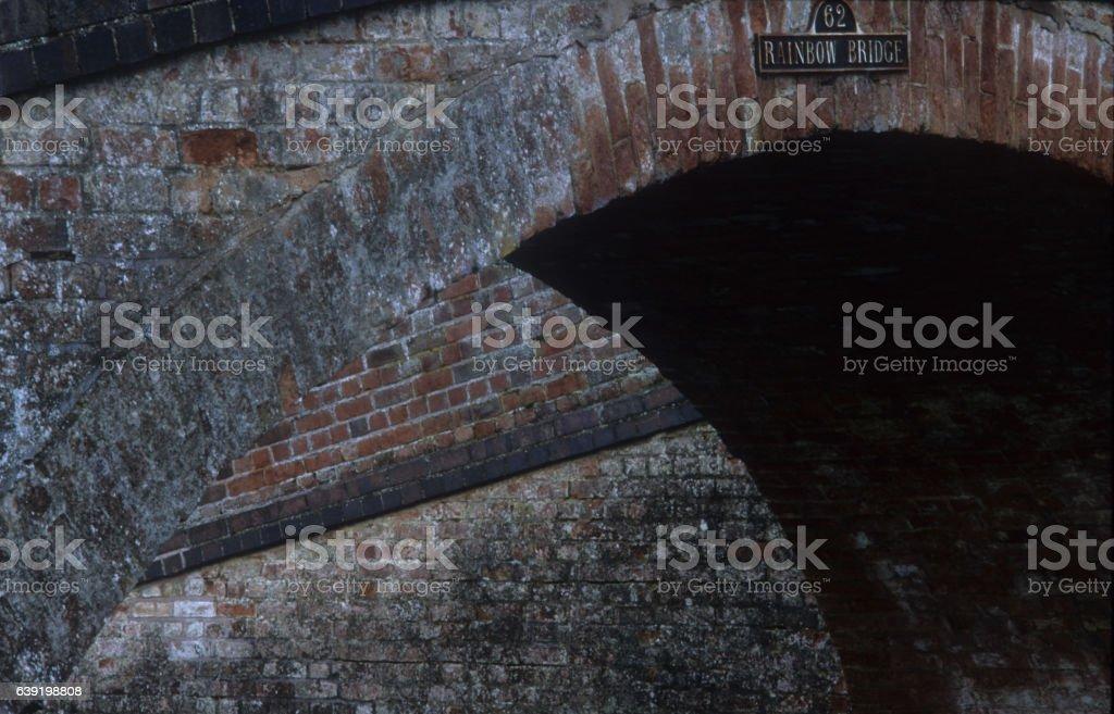 Rainbow Bridge Foxton Locks Leicestershire stock photo