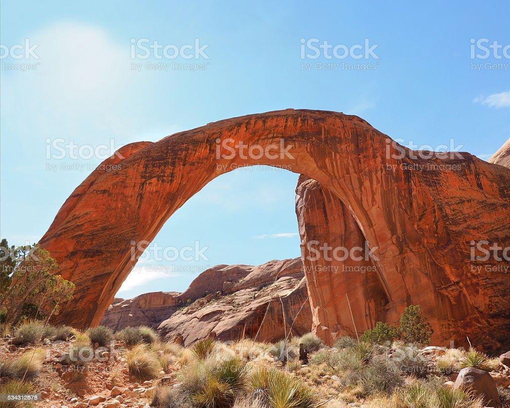 Rainbow Bridge Glen Canyon National Recreation Area stock photo