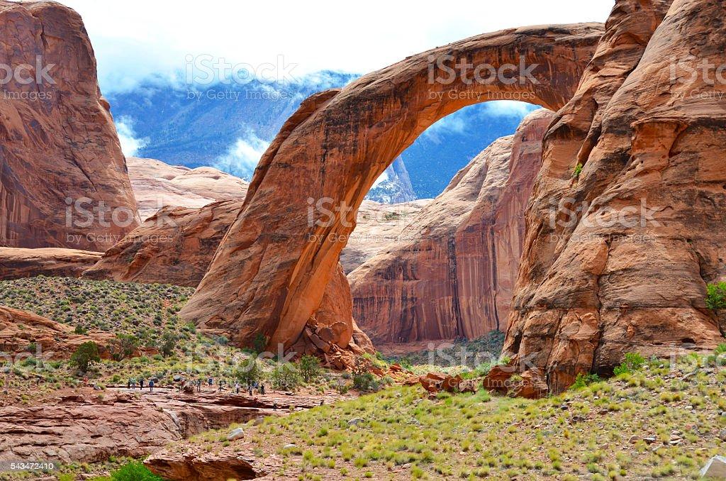 Rainbow Bridge in Page Arizona, USA stock photo