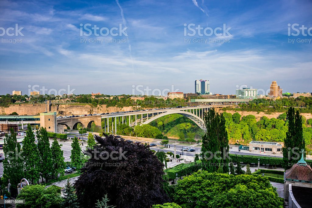 Rainbow Bridge - Niagara Falls stock photo