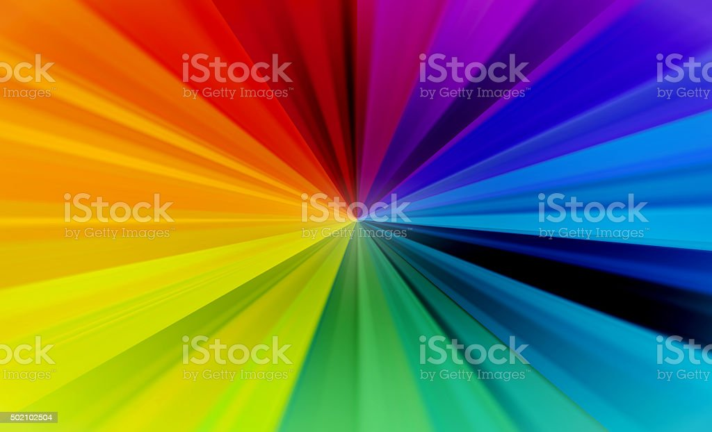 Rainbow Burst Abstract Background stock photo