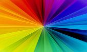Rainbow Burst Abstract Background