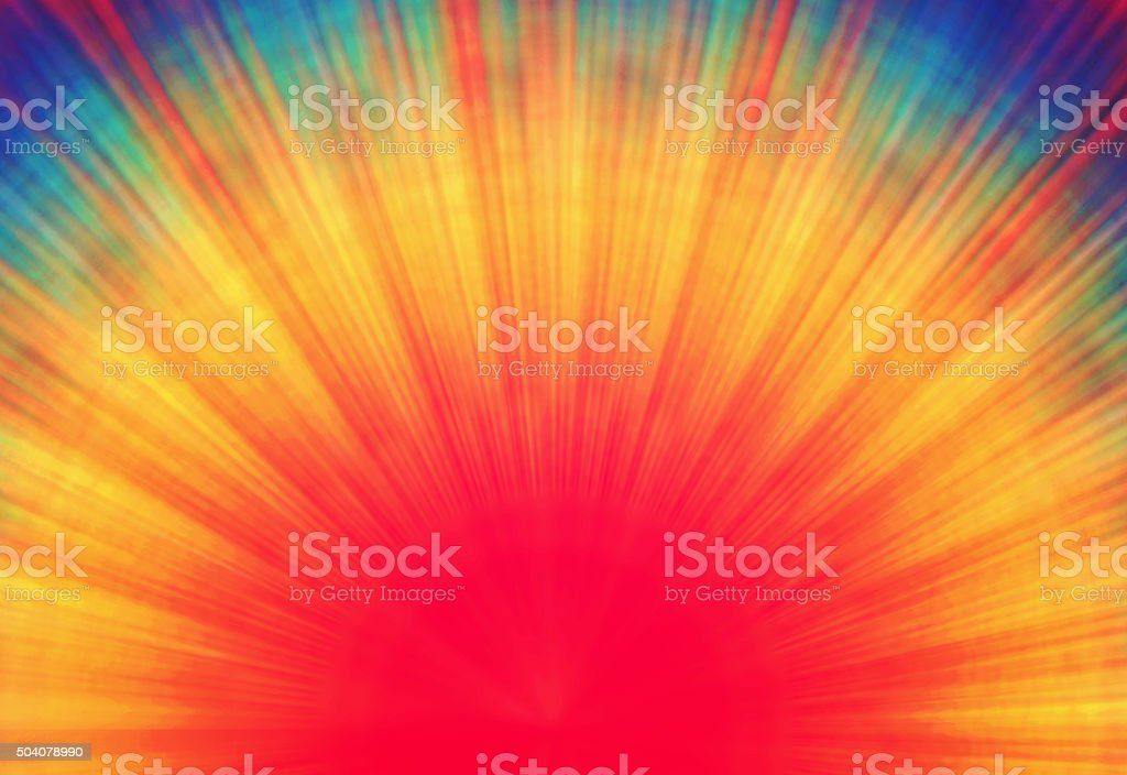 Rainbow Burst Background stock photo