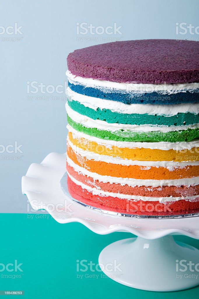 Rainbow Cake stock photo