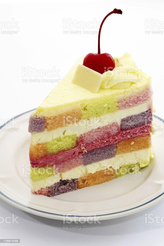Rainbow cake royalty-free stock photo
