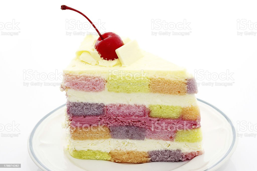 Rainbow cake royalty-free stock photo