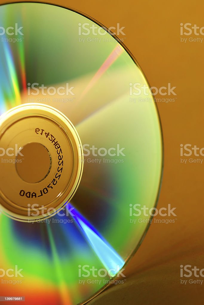 Rainbow CD royalty-free stock photo