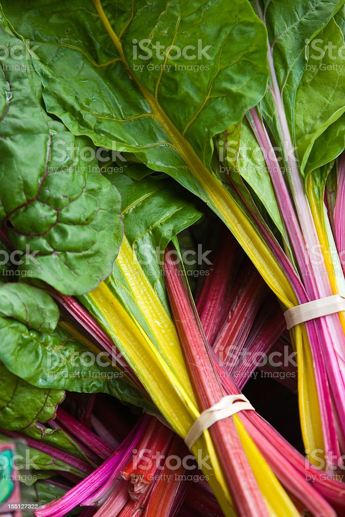 Rainbow Chard for sale stock photo