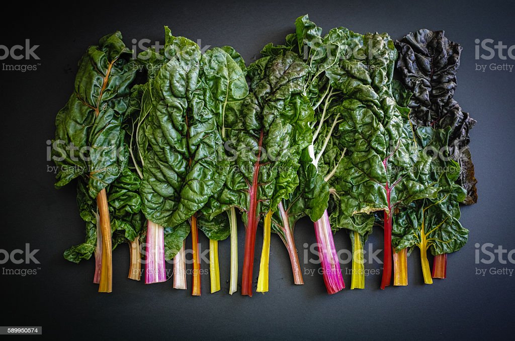 Rainbow chard stock photo