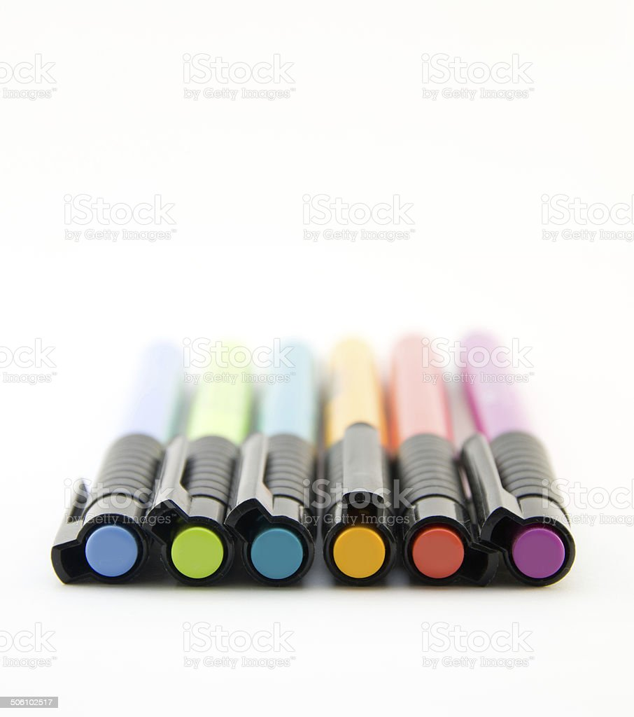 Rainbow Color Markers stock photo