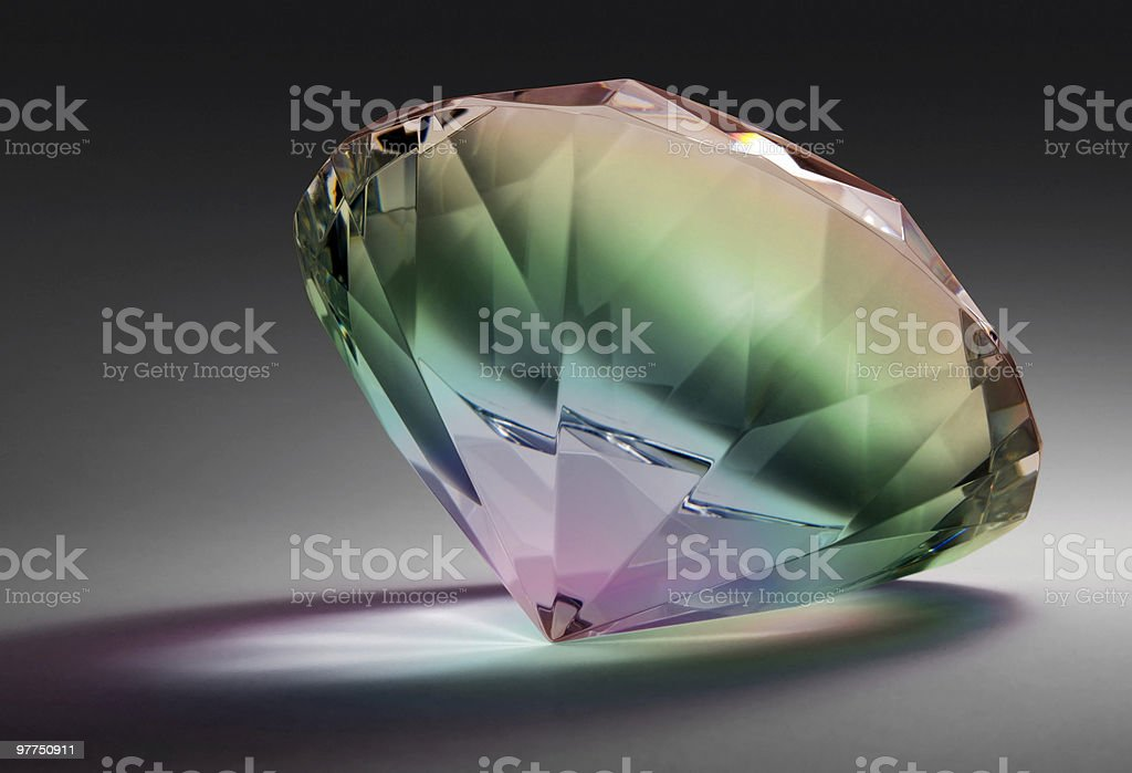 rainbow colored diamond royalty-free stock photo