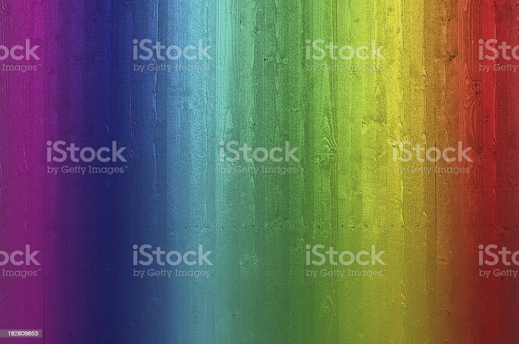 Rainbow colored plank wall royalty-free stock photo