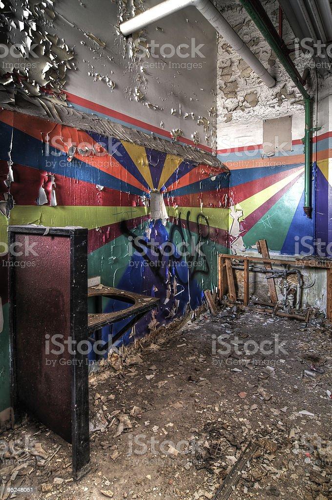 Rainbow Colored Restrooms stock photo