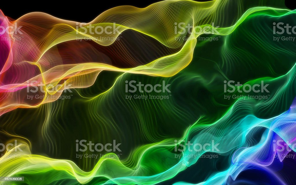 Rainbow colored silky line pattern royalty-free stock photo