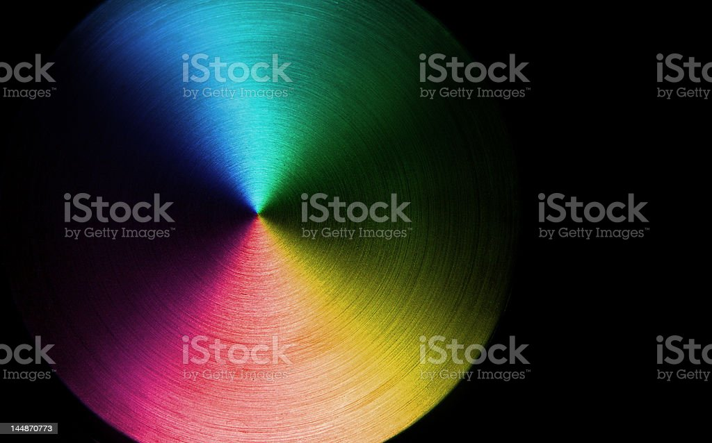 Rainbow colors disk royalty-free stock photo