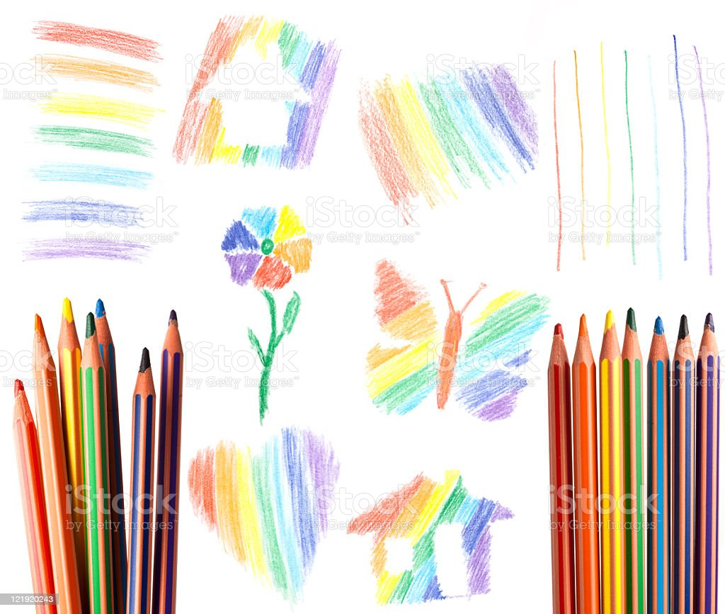 Rainbow  colors elements royalty-free stock photo