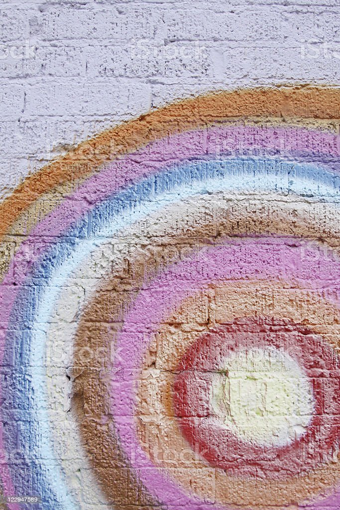 Rainbow Colors Painted on Brick royalty-free stock photo