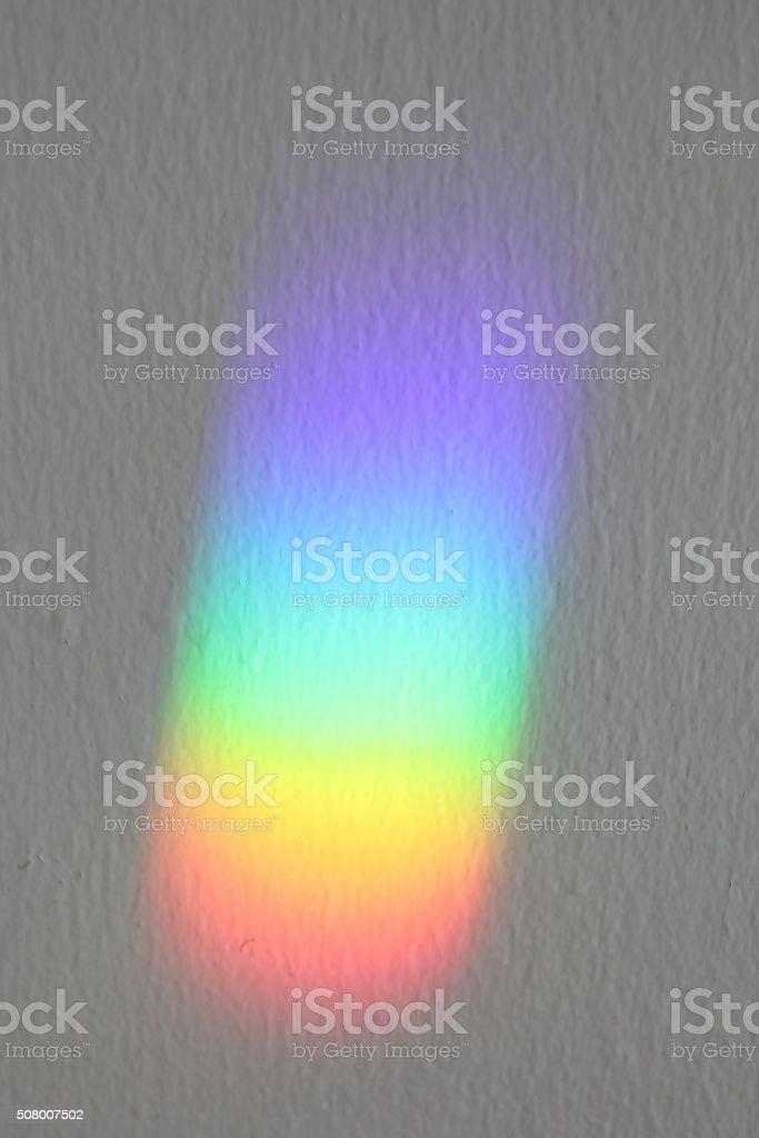 Rainbow Column of Light stock photo