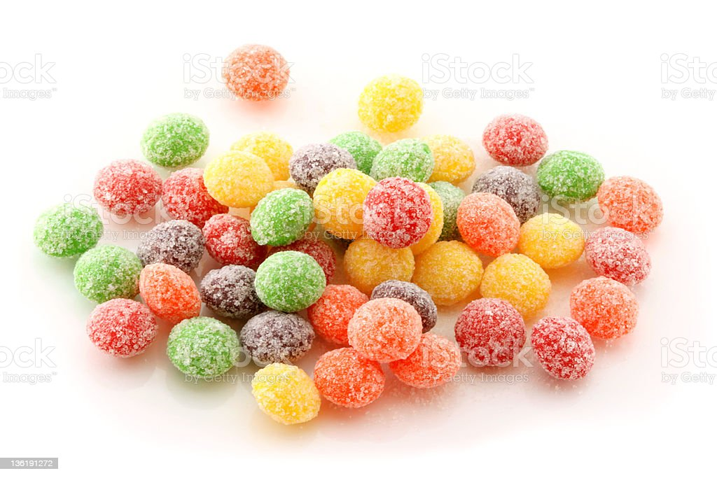Rainbow confectionery : small candies in many flavors royalty-free stock photo