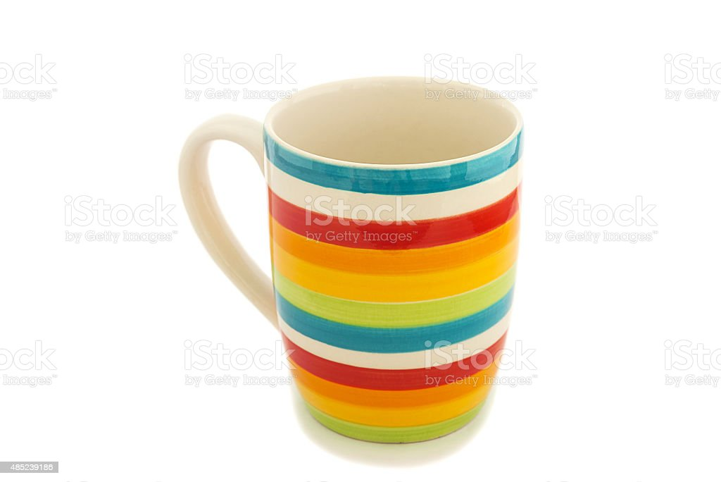 Rainbow cup isolated stock photo