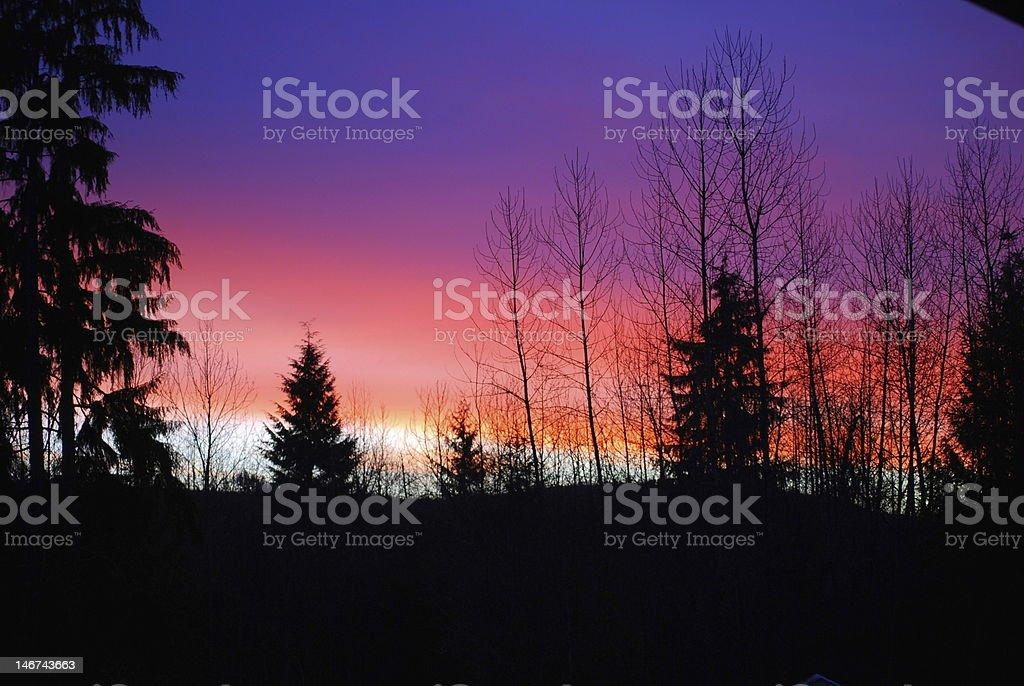Rainbow Dawn stock photo