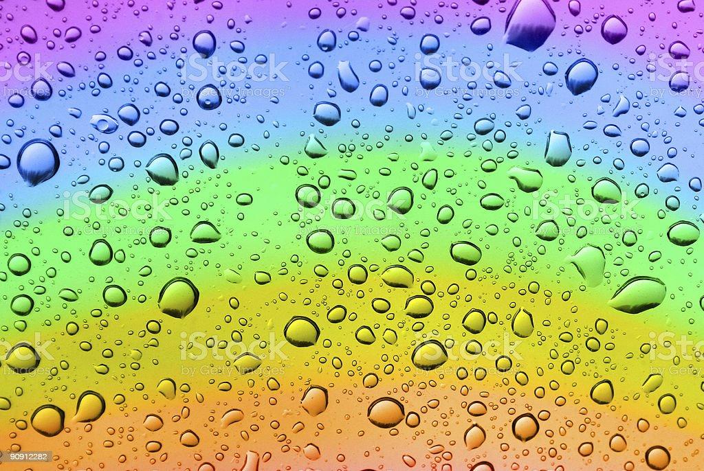 rainbow drops royalty-free stock photo