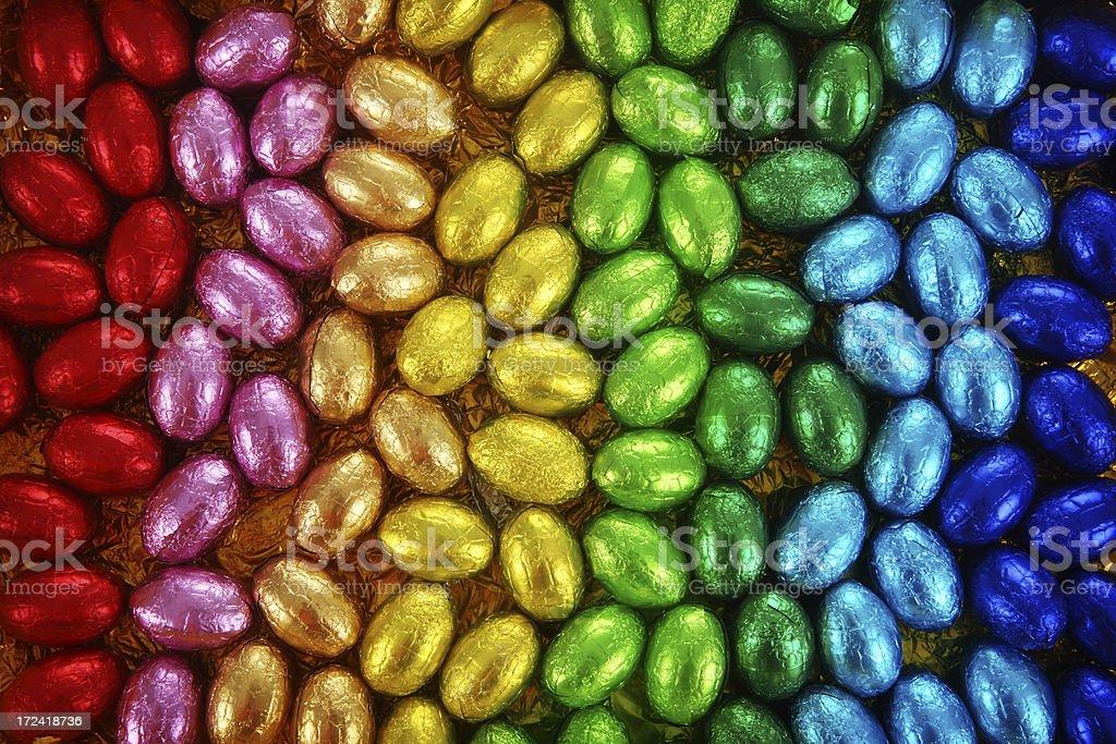 Rainbow Easter Eggs royalty-free stock photo