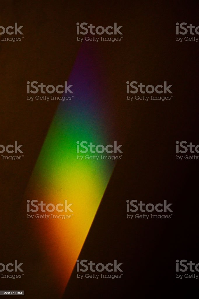 Rainbow effect on a wall stock photo