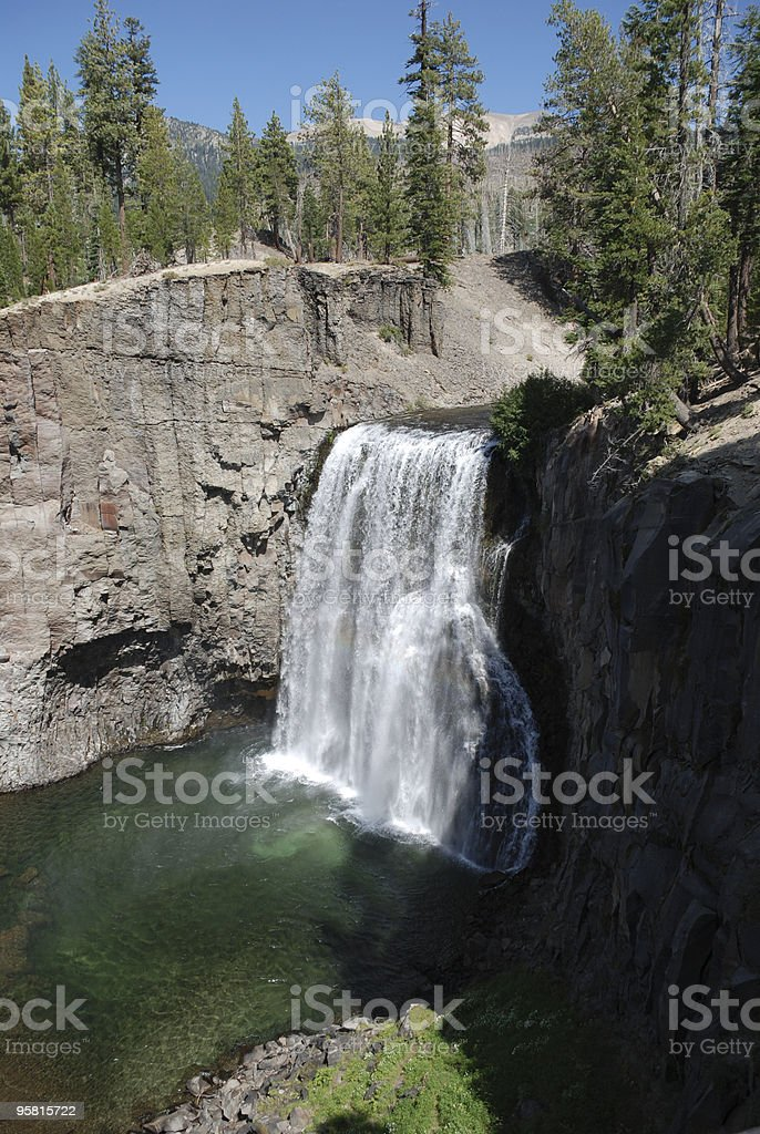 Rainbow Falls at Devils Postpile royalty-free stock photo