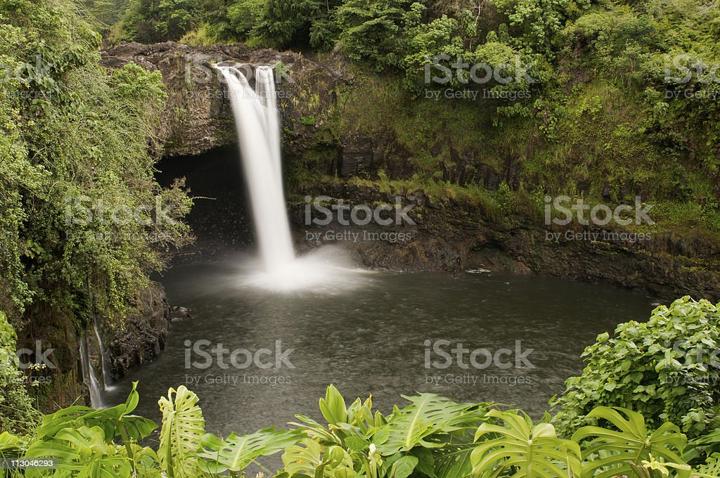 Rainbow Falls of the Wailuku River near Hilo, Hawaii royalty-free stock photo