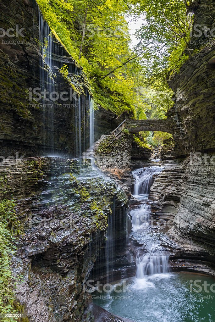 Rainbow Falls stock photo