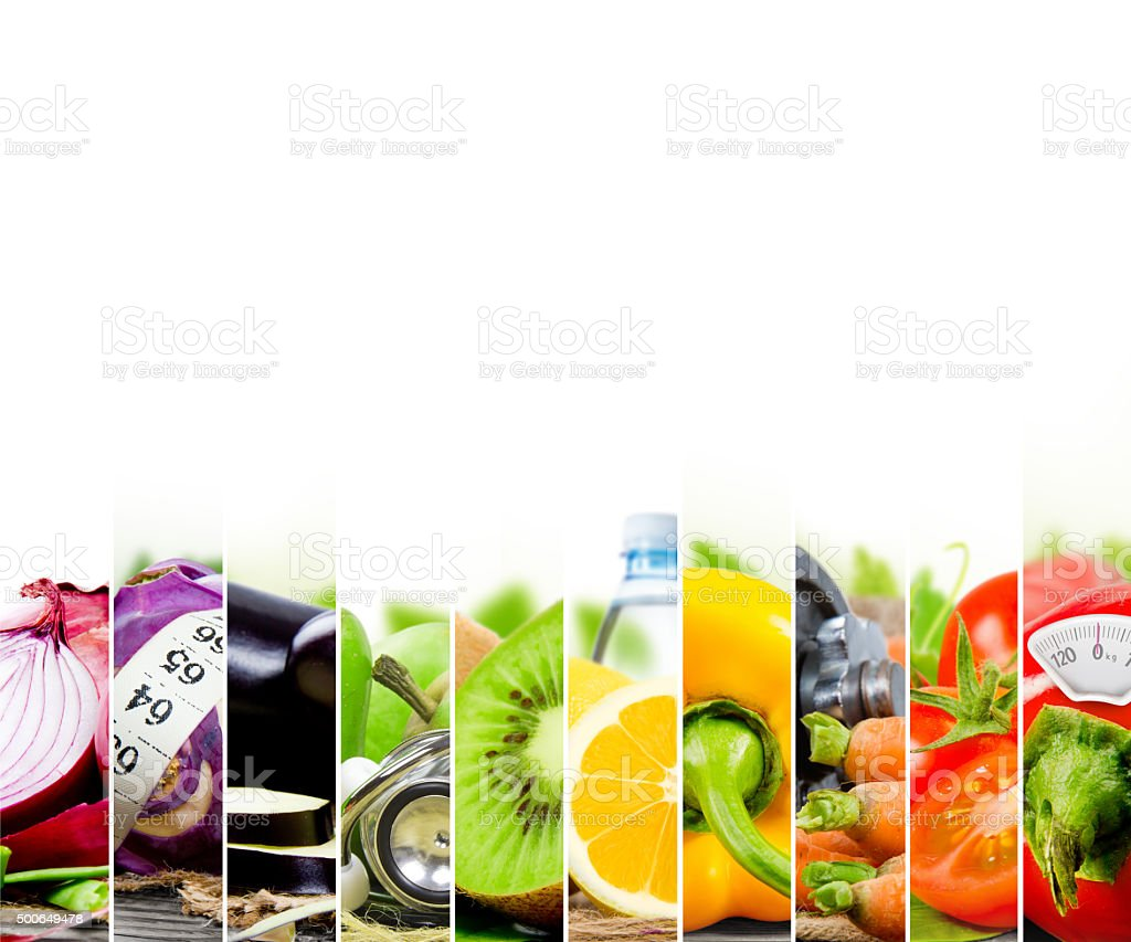 Rainbow Fitness Mix stock photo